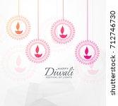 creative diwali festival... | Shutterstock .eps vector #712746730