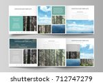 templates for tri fold square...   Shutterstock .eps vector #712747279