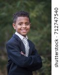 portrait of a handsome young... | Shutterstock . vector #712747540