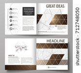 business templates for square... | Shutterstock .eps vector #712748050