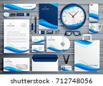 brand stationery design for... | Shutterstock .eps vector #712748056