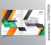 creative bifold brochure design ...   Shutterstock .eps vector #712750024