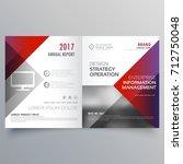 clean minimal bifold brochure... | Shutterstock .eps vector #712750048