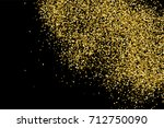 gold glitter texture isolated... | Shutterstock .eps vector #712750090