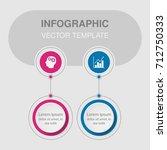 vector infographic template for ... | Shutterstock .eps vector #712750333