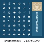 healthy care icon set vector | Shutterstock .eps vector #712750690