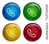 phone call multi color gradient ...