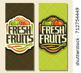 vector vertical banners for set ... | Shutterstock .eps vector #712754449