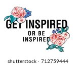 flowers and slogan message | Shutterstock .eps vector #712759444