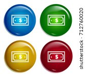 dollar bill multi color...