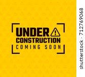 under construction design ... | Shutterstock .eps vector #712769068