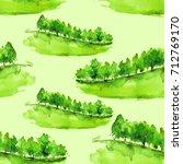 seamless watercolor pattern.... | Shutterstock . vector #712769170