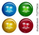 palm trees multi color gradient ...