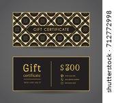 vintage ornamental gift... | Shutterstock .eps vector #712772998