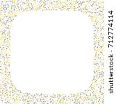 square metallic confetti frame...   Shutterstock .eps vector #712774114