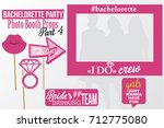 set of printable bachelorette... | Shutterstock .eps vector #712775080