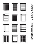 different interior blinds  ... | Shutterstock .eps vector #712775320