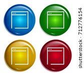 browser multi color gradient... | Shutterstock .eps vector #712776154