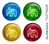circus elephant multi color...