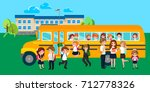 back to school summer sale... | Shutterstock .eps vector #712778326