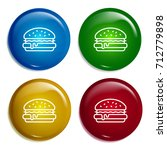 hamburger multi color gradient...
