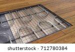 underfloor heating system under ... | Shutterstock . vector #712780384