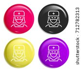 nurse multi color glossy badge...