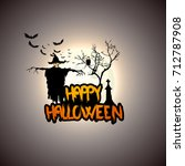 creepy halloween background... | Shutterstock .eps vector #712787908