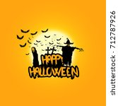 creepy halloween background... | Shutterstock .eps vector #712787926