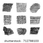 set of hand drawn scribble... | Shutterstock .eps vector #712788103