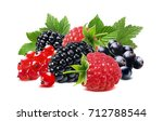 black raspberry and red currant ... | Shutterstock . vector #712788544
