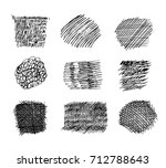 set of hand drawn scribble... | Shutterstock .eps vector #712788643