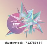 vector glass facets with round... | Shutterstock .eps vector #712789654