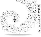 music notes background | Shutterstock . vector #71279350