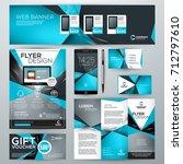 set of stationery design...   Shutterstock .eps vector #712797610
