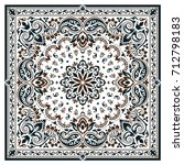 paisley bandana print | Shutterstock .eps vector #712798183