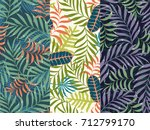 set of three seamless floral... | Shutterstock .eps vector #712799170