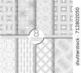 set of vector seamless patterns.... | Shutterstock .eps vector #712802050
