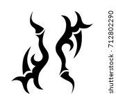 tattoo tribal vector design.... | Shutterstock .eps vector #712802290