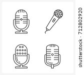 microphone line icons set ... | Shutterstock .eps vector #712802920