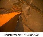 scenic drone flight over dune...   Shutterstock . vector #712806760