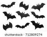 halloween background  black... | Shutterstock . vector #712809274