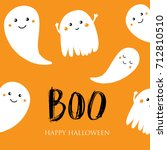 cute halloween invitation or... | Shutterstock .eps vector #712810510