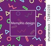 memphis design. geometric... | Shutterstock .eps vector #712811233