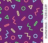 memphis design. 90s style.... | Shutterstock .eps vector #712811239