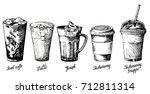 vector vintage hand drawn...   Shutterstock .eps vector #712811314