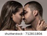 beauty portrait of sensual... | Shutterstock . vector #712811806