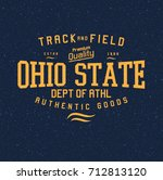 ohio state  college type | Shutterstock .eps vector #712813120