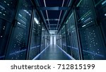 network server room with... | Shutterstock . vector #712815199