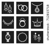jewelry isolated icons....   Shutterstock .eps vector #712815718